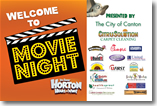 Canton Movie Night Ad by Inspired 2 Design™ in Atlanta