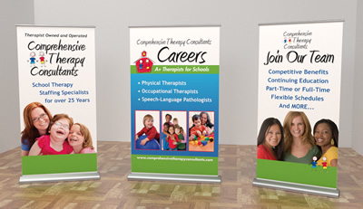 Atlanta Trade Show banner design and printing for Comprehensive Therapy Consultants