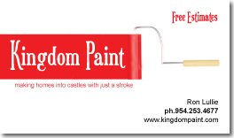Business Card design for Kingdom Paint in Cartersville